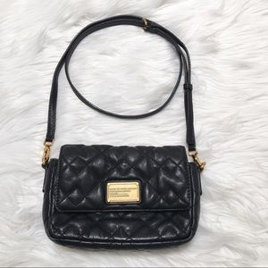 Marc by Marc Jacobs Black Leather Quilted Purse